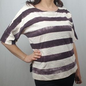 MADEWELL STRIPED BOXY TOP SIZE LARGE